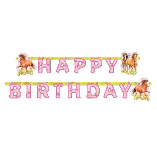 Bilde av Charming Horses, Happy birthday Banner