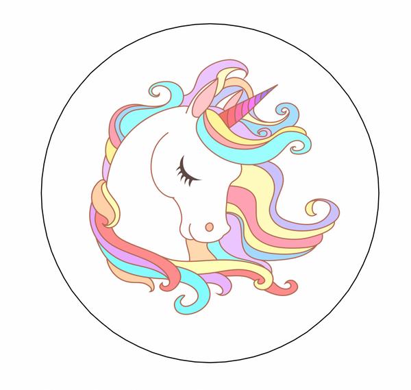 Bilde av Unicorn Kakebilde, 3, Sukkerpapir, 20 cm