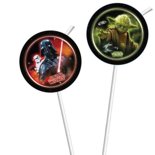 Bilde av Star Wars Sugerør, 6 stk