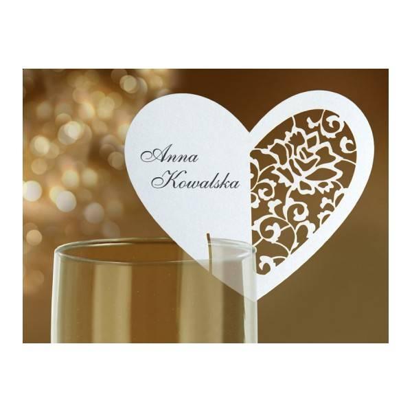 Bilde av Bordkort for glass, Hjerte