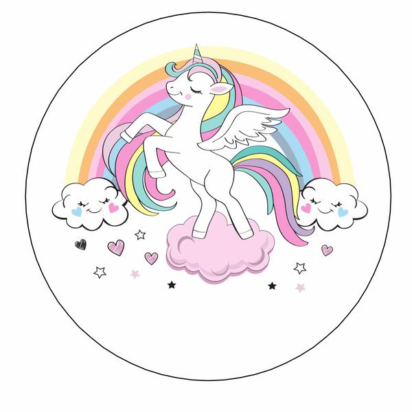 Bilde av Unicorn Kakebilde, 4, Sukkerpapir, 20 cm