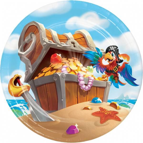 Bilde av Pirat, Asjetter, 8 stk