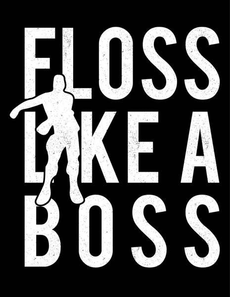 Bilde av «Floss Like a boss», Kakebilde, Sukkerpapir, A4