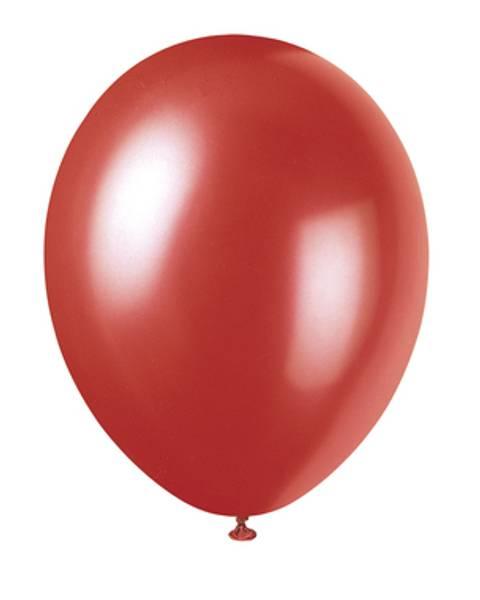 Bilde av Shimmer Flammerød, Ballonger, 8stk