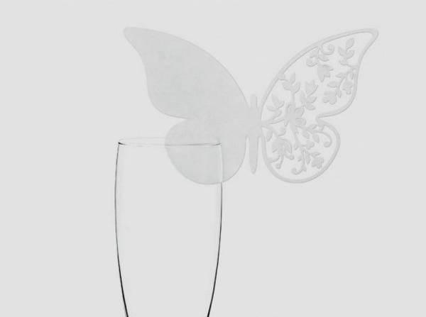 Bilde av Bordkort for glass, Sommerfugl