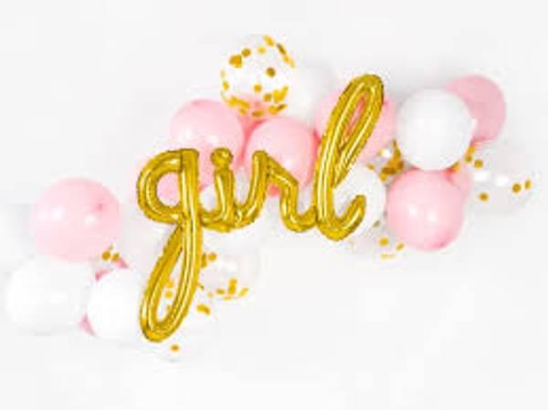 Bilde av Gull, Girl, Folieballongbanner