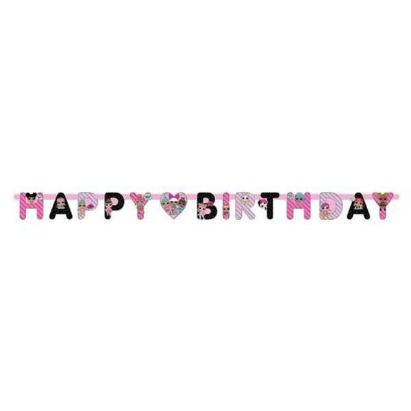 Bilde av LOL Surprise HAPPY BIRTHDAY Banner 1,68m