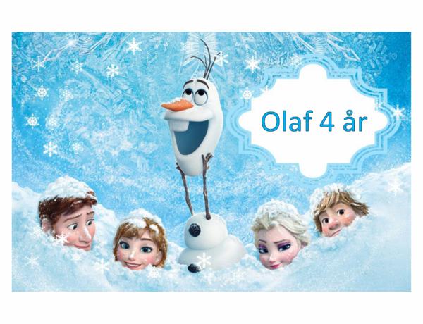 Bilde av Frost Olaf , Kakebilde, Sukkerpapir, A4