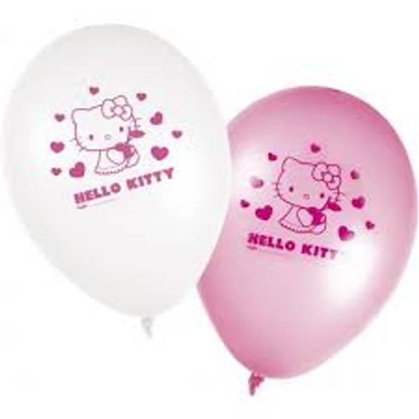 Bilde av Hello Kitty Ballonger, 8 stk