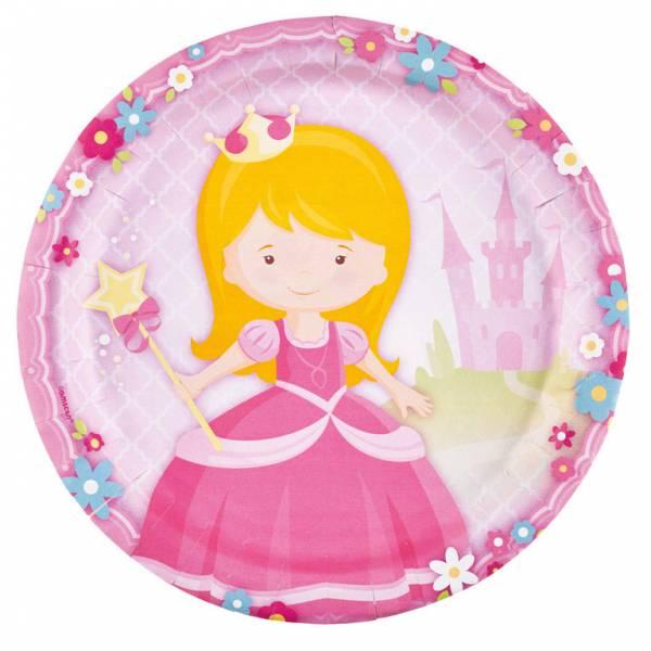 Bilde av Min Prinsesse, tallerker, 8 stk