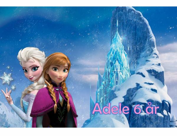 Bilde av Frost Elsa og Anna, Kakebilde2, Sukkerpapir, A4