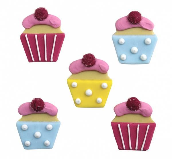 Bilde av Sukkerpynt, Cupcake, 5 stk