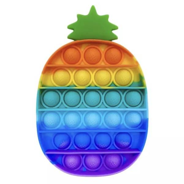 Bilde av Fidget Toy Regnbue Ananas Pop it