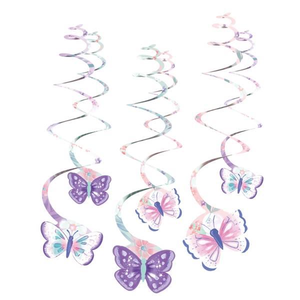 Bilde av Pastell, Sommerfugl hengende dekorasjoner