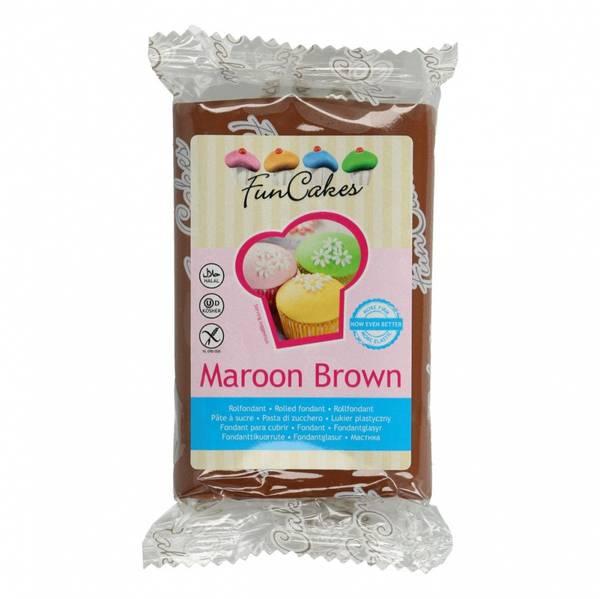 Bilde av Sukkerpasta,Maroon Brown, 250g