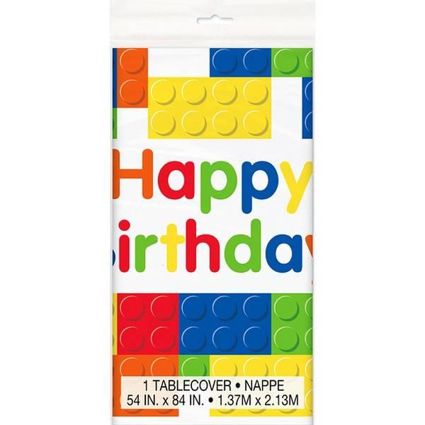 Bilde av Legoklosser Happy Birthday duk