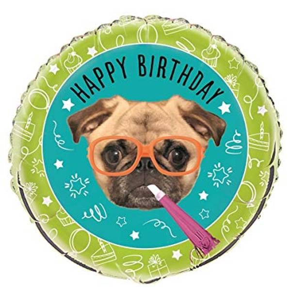 Bilde av Pug Puppy, Folieballong, 43 cm