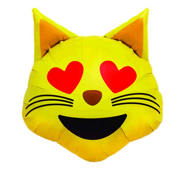 Bilde av Emoji Cat Folieballong 56cm