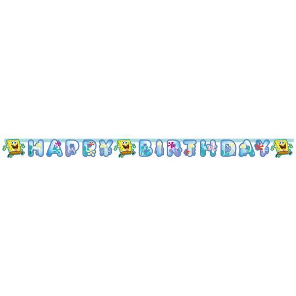 Bilde av Svampebob Happy Birthday banner