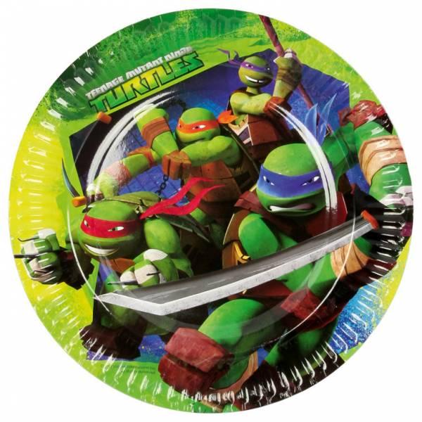 Bilde av Ninja Turtles, Tallerker, 8 stk