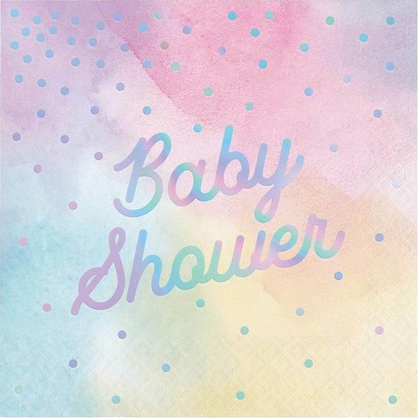 Bilde av Baby Shower fargerike servietter