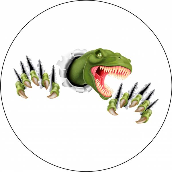 Bilde av Dinosaur Kakebilde 2, Sukkerpapir, 20 cm