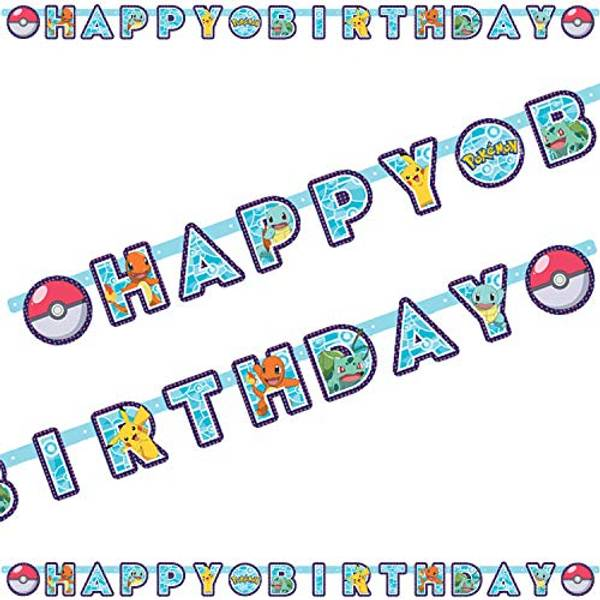 Bilde av Pokemon, Happy Birthday Banner 2,2 m