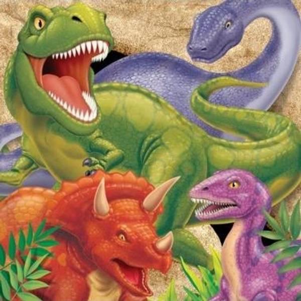 Bilde av Dinosaur 3 Servietter, 16 Stk