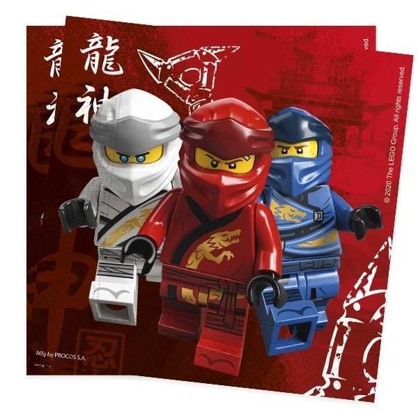 Bilde av LEGO Ninjago, Servietter, 20 stk