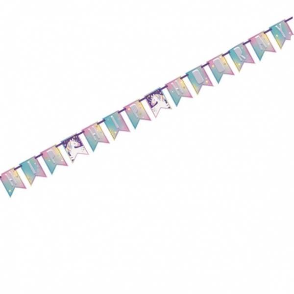 Bilde av Fantasy Unicorn, Happy Birthday, Banner