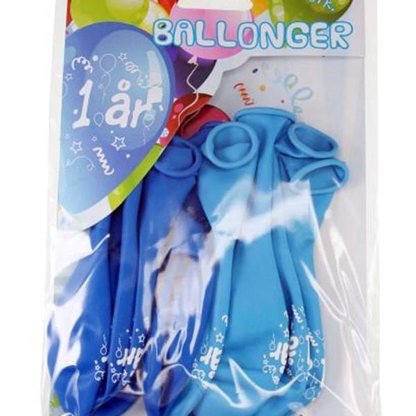 Bilde av Blå Ballonger  1 år, 8 stk