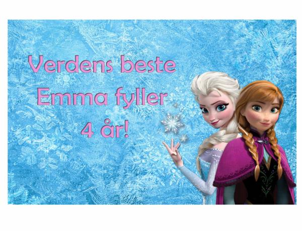 Bilde av Frost Elsa og Anna, Kakebilde1, Sukkerpapir, A4
