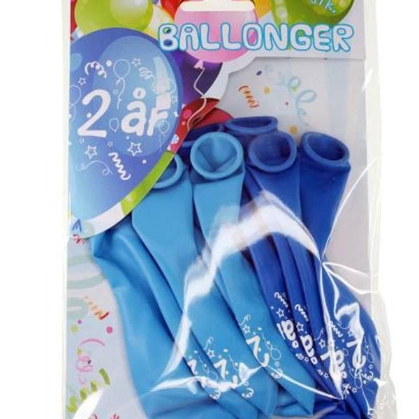 Bilde av Blå Ballonger  2 år, 8 stk