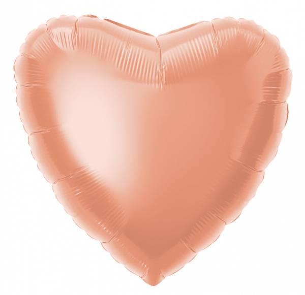 Bilde av Hjertefolieballong Rosegull, 46cm