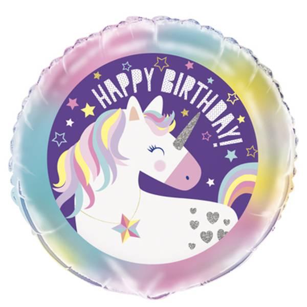 Bilde av Unicorn, Folieballong 2, 43cm