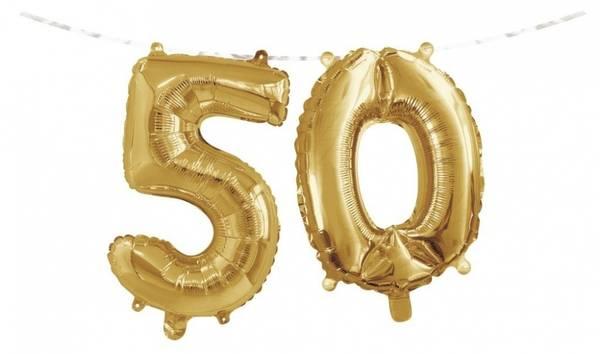 Bilde av Gull, Folieballongbanner, 50 År