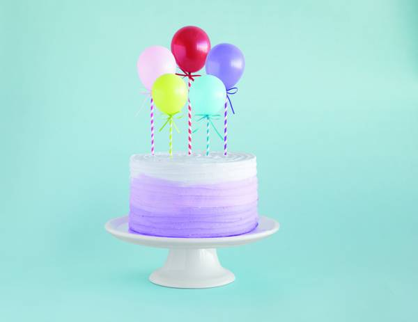 Bilde av Miniballong kaketopper, 5stk