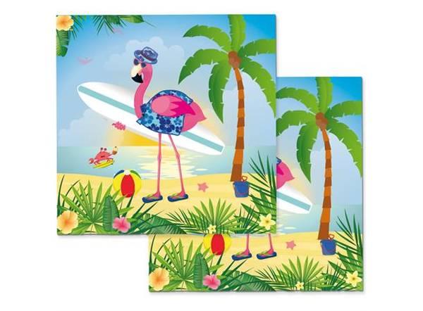 Bilde av Flamingo På Ferie, Servietter 20 stk
