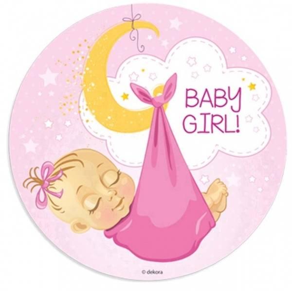 Bilde av Kakebilde- Baby Jente, 20cm