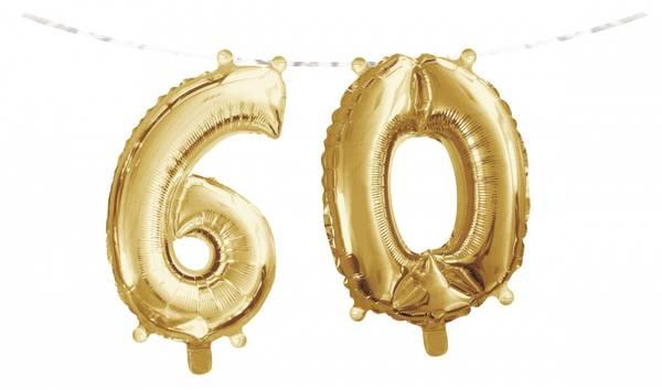 Bilde av Gull, Folieballongbanner, 60 År