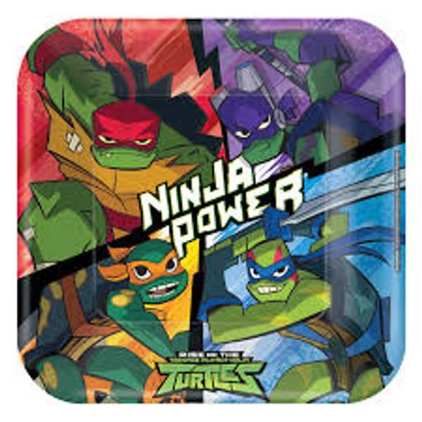Bilde av Rise of the Ninja Turtles Tallerken, 8 stk
