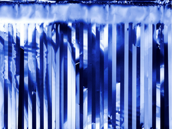 Bilde av Girlander Frynser Blå, 4m x 18.5cm