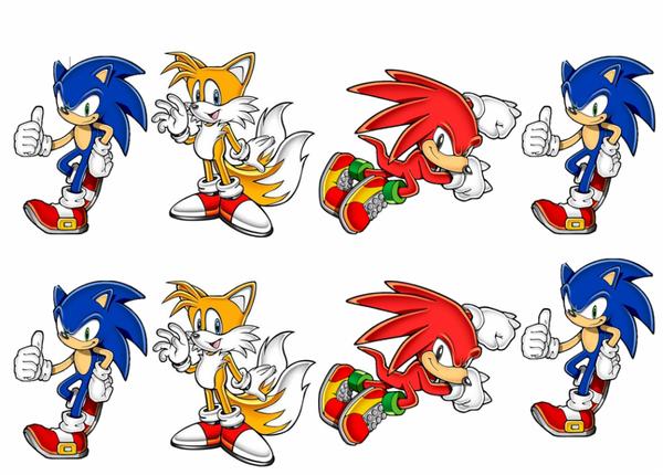 Bilde av Sonic, Muffinsbilder, 16stk