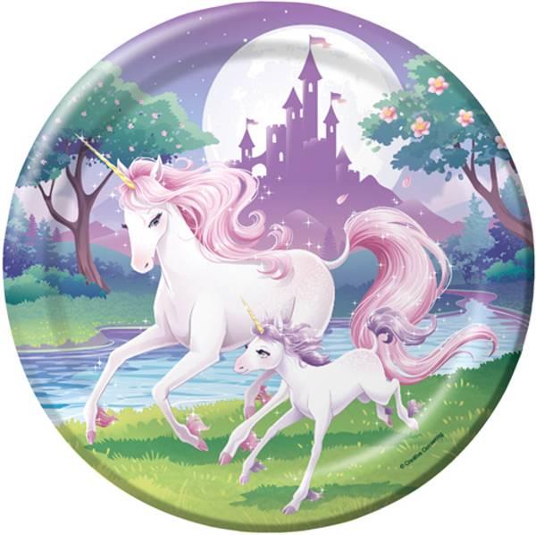 Bilde av Unicorn Fantasy, Tallerkener 8 stk