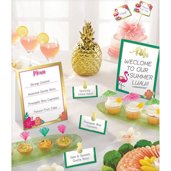 Bilde av Buffet Dekorasjon Kit, Aloha, 12 Deler