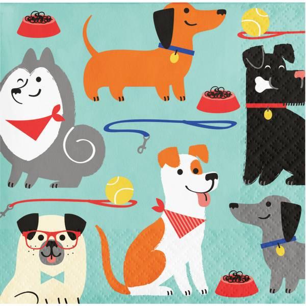 Bilde av Hundefest, Cafeservietter, 16 stk