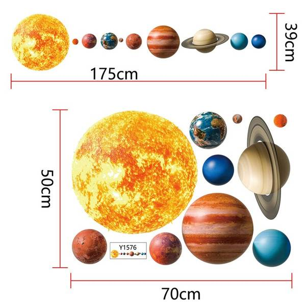 Bilde av Solsystemet, Wallstickers