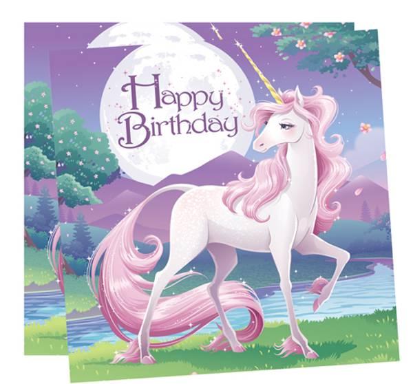 Bilde av Unicorn Fantasy, Servietter 16 stk