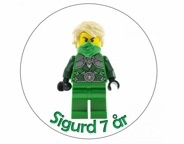 Bilde av Den Grønne Ninja, Kakebilde, Sukkerpapir, 20 cm