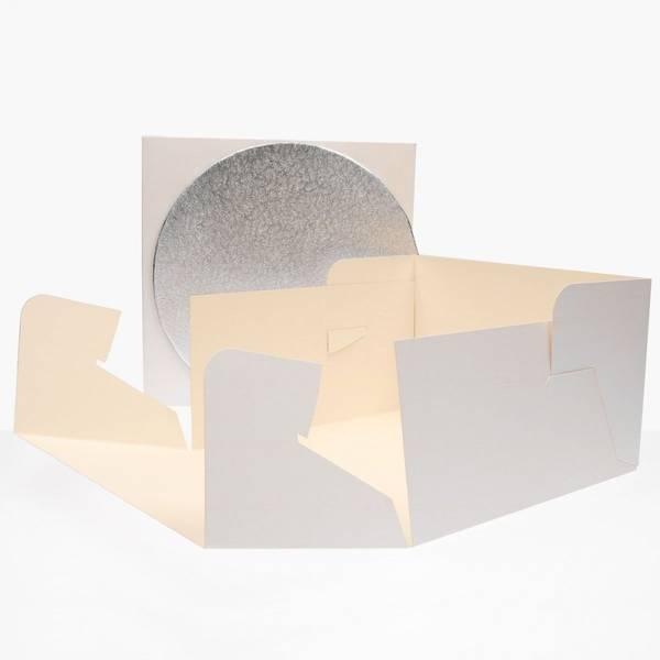 Bilde av Kakeeske, Kvadratisk med rundt kakebrett, 30 cm